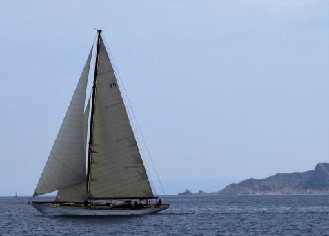 sleek yacht