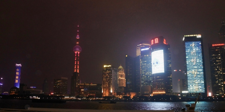 night time in Shanghai
